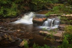 Taf Fechan Forest waterfall Royalty Free Stock Photography