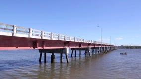 Pont 3 d'île de Bribie banque de vidéos