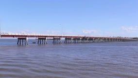 Pont 4 d'île de Bribie banque de vidéos