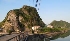 Pont d'île de Cat Ba Photos stock