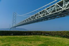Pont d'Akashi Kaikyo, le plus long pont en métal de suspension du monde images stock