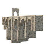 Pont d'Alcantara sur le blanc 3D illustration, chemin de coupure illustration stock