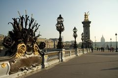 pont d'Alexandre III Photos stock