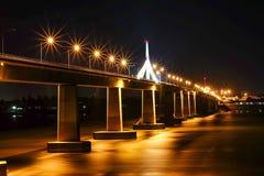 Pont d'amitié de la Thaïlande, Laos Photographie stock