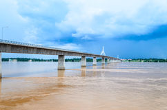 Pont d'amitié du Thaïlandais-Laotien. Photos libres de droits