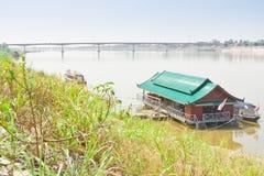 Pont d'amitié, Thaïlande - Laos, d'abord Image libre de droits