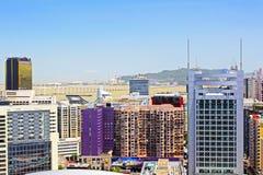 Pont d'Amizade et paysage urbain, Macao, Chine Photos stock