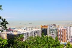 Pont d'Amizade et paysage urbain, Macao, Chine Photo stock