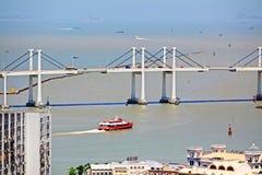 Pont d'Amizade, Macao, Chine Photographie stock libre de droits