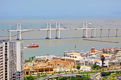 Pont d'Amizade, Macao, Chine Images stock