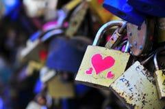 Pont d'amour à Wroclaw Photographie stock libre de droits