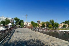 Pont d'amour en Astrakan Image libre de droits