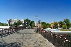 Pont d'amour en Astrakan Image stock