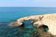 Pont d'amour en Chypre Ayia Napa Image libre de droits