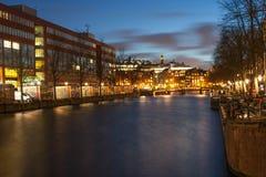 Pont d'Amsterdam Photographie stock libre de droits
