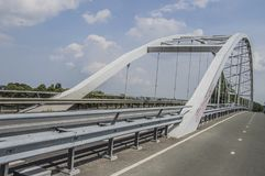 Pont d'Amsterdam-Rijnkanaal chez Weesp le 2018 néerlandais image stock