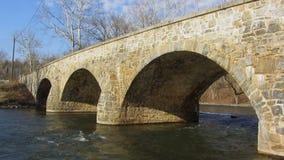 Pont d'Antietam Creek en mars banque de vidéos