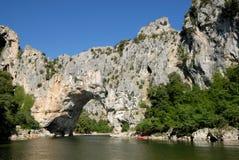 Pont d'Arc (arch bridge) in France Stock Photo