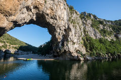 Pont D'Arc in the Ardeche Gorges (France) Royalty Free Stock Images