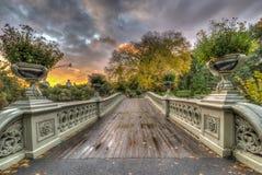 Pont d'arc, Central Park, New York CIT photos libres de droits