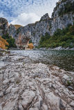 The Pont d'Arc is a large natural bridge. Royalty Free Stock Images