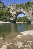 Pont d`arc in Southern France, Europe Royalty Free Stock Images