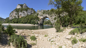 Pont d`arc in Southern France, Europe Royalty Free Stock Photo