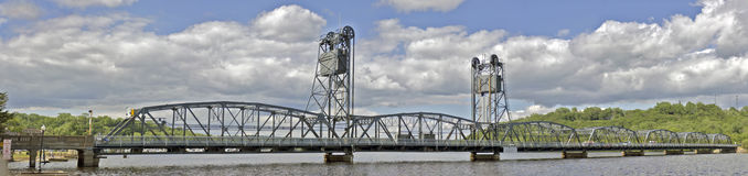 Pont d'ascenseur de Stillwater Image libre de droits