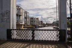 Pont d'ascenseur sur le canal des syndicats, Edimbourg, Ecosse Photographie stock libre de droits