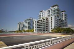 Pont d'aspiration de rue de Miami Beach soixante-troisième Images stock