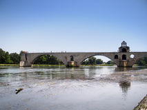Pont d'Avignon. The  St.-Benezet bridge in Avignon, France Stock Images