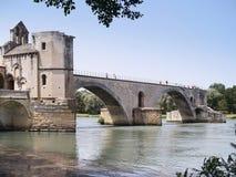 Pont d'Avignon. The  St.-Benezet bridge in Avignon, France Stock Photography