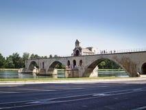 Pont d'Avignon. The  St.-Benezet bridge in Avignon, France Royalty Free Stock Photography