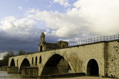 Pont d'Avignon in Avignon, France Royalty Free Stock Photos