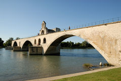Pont d'Avignon in Avignon, France Royalty Free Stock Images