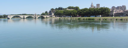 Pont d'Avignon, Avignon, Frankrike Arkivfoto