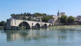 Pont d'Avignon, Avignon, Frankrike Arkivbilder