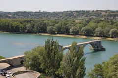 Pont d'Avignon dans les Frances photographie stock libre de droits