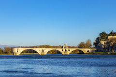 Pont d'Avignon, is a famous medieval bridge in the town of Avign Royalty Free Stock Photography