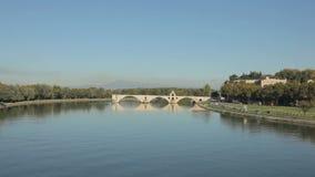 Pont d'Avignon, Frankrijk stock videobeelden