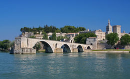 Pont d'Avignon i Frankrike Royaltyfri Fotografi