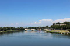 Pont d'Avignon. The well-known bridge across the Rhone river in Avignon, southern France Royalty Free Stock Image