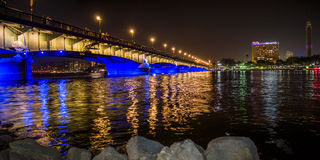 pont d'EL le Nil de kasr Photo libre de droits