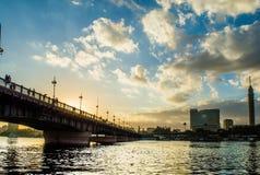 pont d'EL le Nil de kasr Photographie stock libre de droits