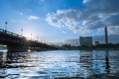 pont d'EL le Nil de kasr Photos libres de droits