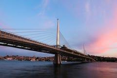 Pont d'or en métro de klaxon à Istanbul, Turquie Photo libre de droits