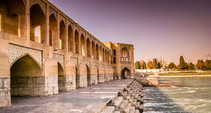 Pont d'Esfahan Image stock