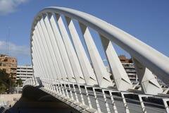 Pont d'exposition au-dessus du Turia à Valence, Espagne Photographie stock libre de droits