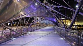 Pont d'hélice à Singapour photographie stock