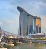 Pont d'hélice, Marina Bay Singapore photo stock